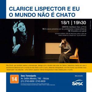 Teatro Clarice Lispector e Eu no Sesc Teresópolis 18-01-2020