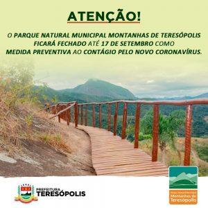 AVISO- Parque Natural Municipal das Montanhas de Teresópolis