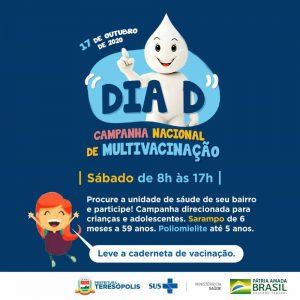 Dia da campanha Nacional de multivacinação em Teresópolis