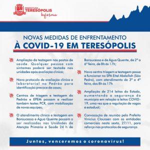 Prefeito determina novas medidas de enfrentamento à COVID-19 em Teresópolis